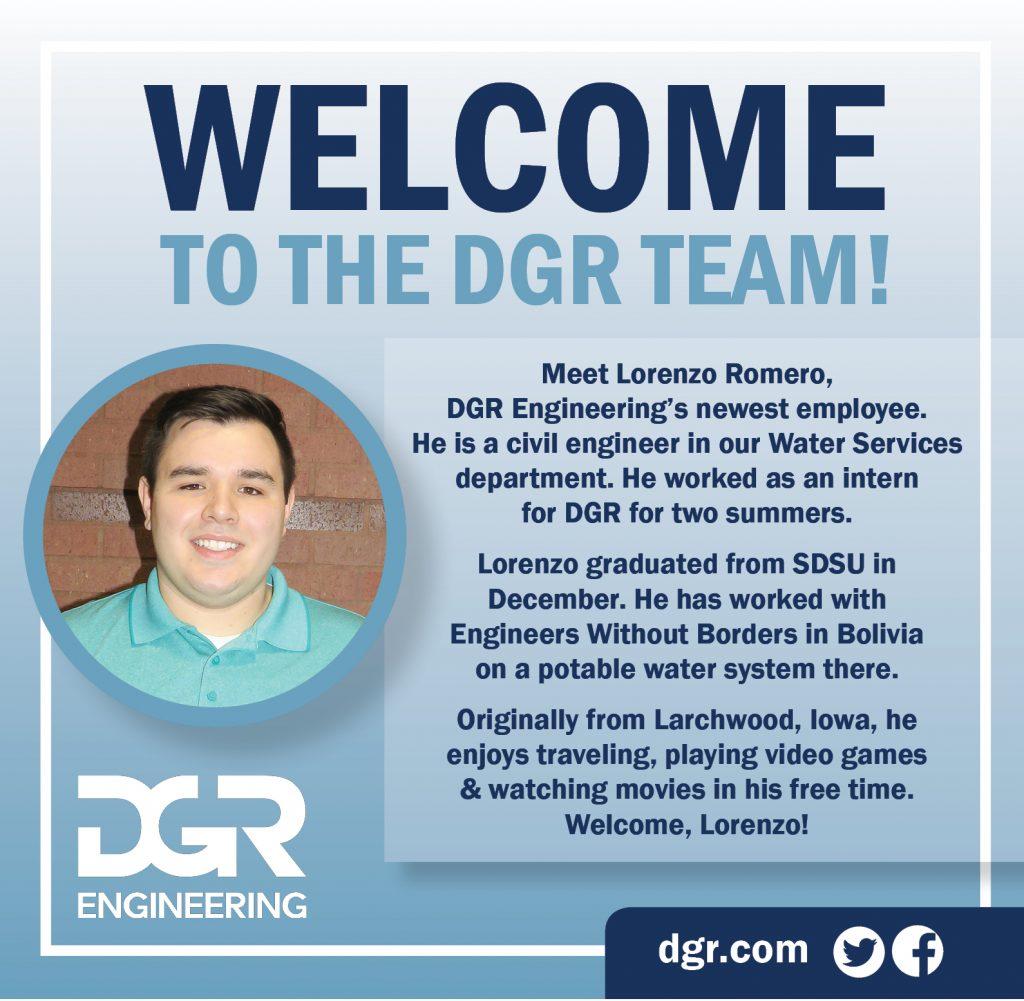 Lorenzo Romero new employee