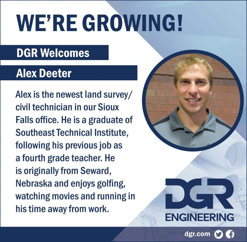 new employee alex deeter