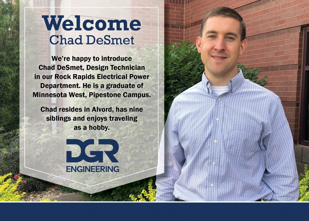 new employee Chad DeSmet