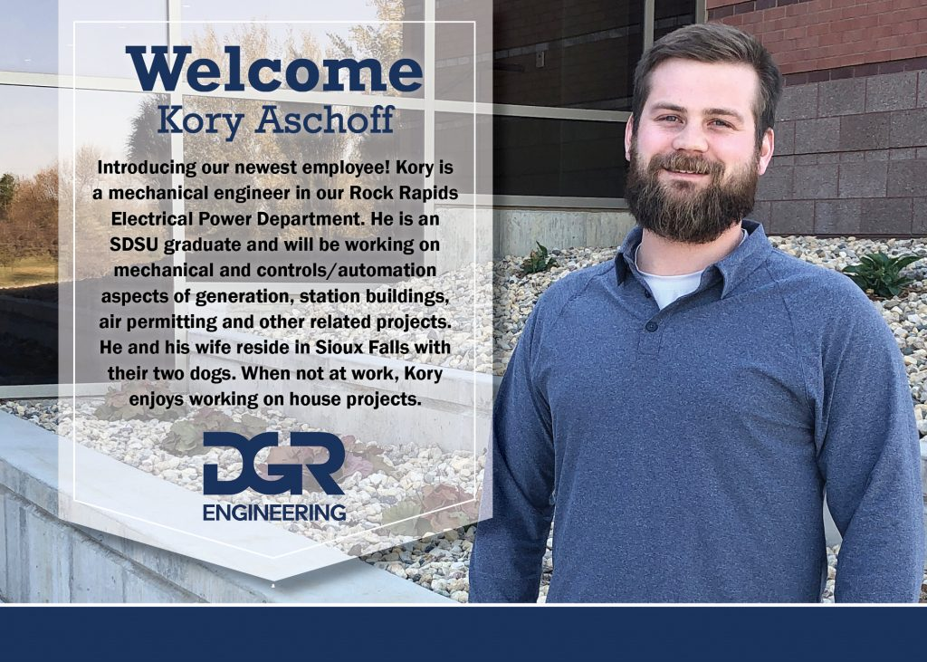 Kory Aschoff, new employee