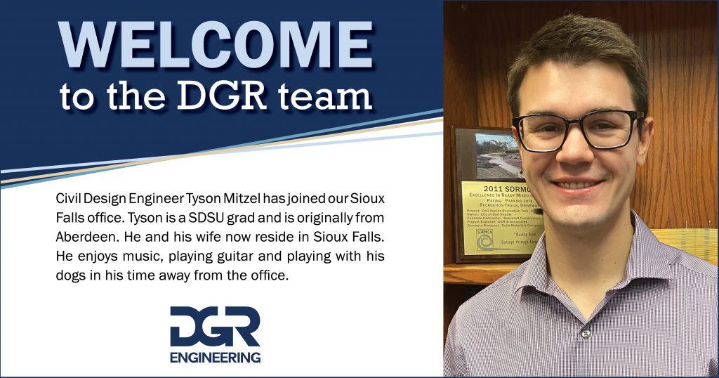 Tyson Mitzel, new employee